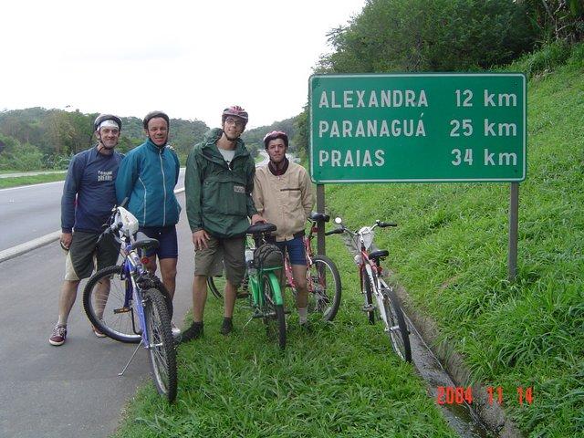Ufa, estamos quase chegando na Alexandra-Matinhos