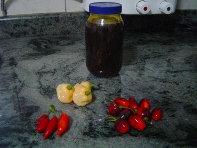 Pimentas e melado
