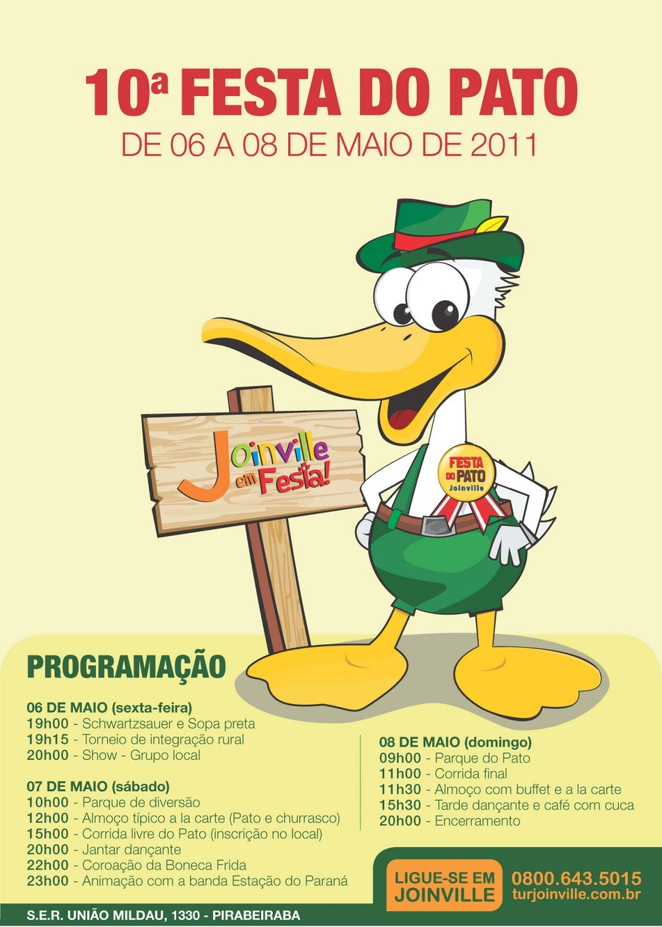 Cartaz da Festa do Pato 2011